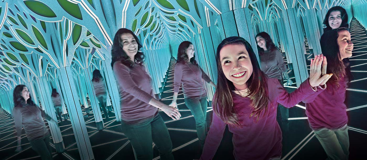 Numbers in Nature: A Mirror Maze