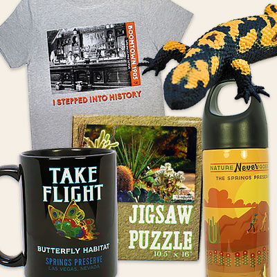 Merchandise from the Springs Preserve online gift shop