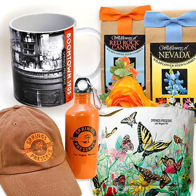 Merchandise from Springs Preserve online gift shop