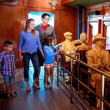 Step onto a recreated railroad car at the Origen Museum